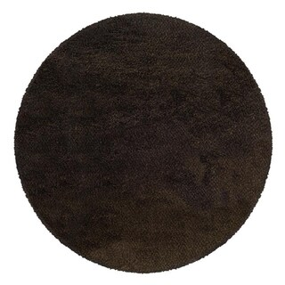 Manhattan Tweed Brown/ Black Shag Rug (6' Round)