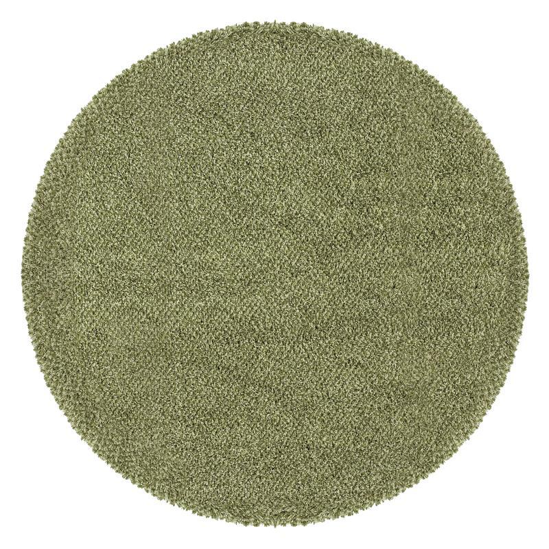 Manhattan Tweed Green/ Ivory Shag Rug (6' Round)