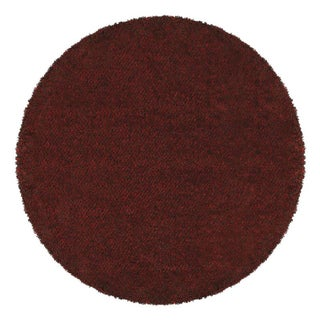 Manhattan Tweed Red/ Brown Shag Rug (6' Round)