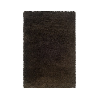 Manhattan Tweed Brown/ Black Shag Rug - 6'7 x 9'6