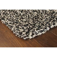 Manhattan Tweed Black/ Ivory Shag Rug (6'7 x 9'6)