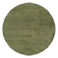 Manhattan Tweed Green/ Blue Shag Rug - 8'