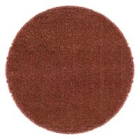 Manhattan Tweed Red/Gold Synthetic Shag Rug - 8'
