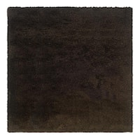 Manhattan Tweed Brown/ Black Shag Rug (8' Square)