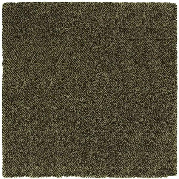 Shop Manhattan Tweed Green/ Brown Shag Rug