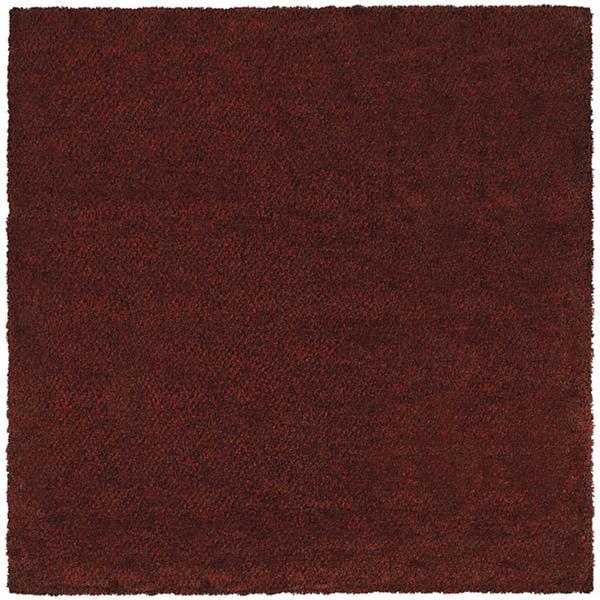 Manhattan Tweed Red/ Brown Shag Rug (8' x 8') - 8' x 8'