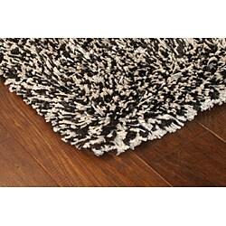 manhattan tweed black ivory shag rug 8 39 x 8 39 free shipping today