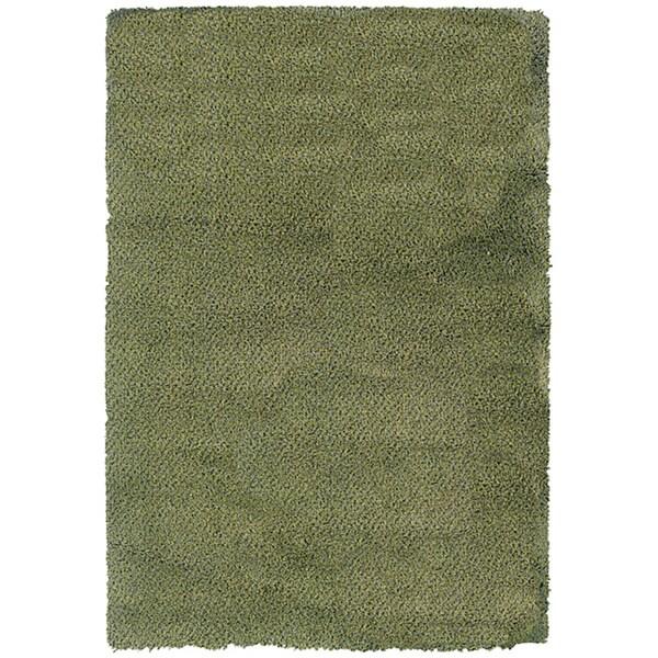 Manhattan Tweed Green/ Blue Shag Rug (7'10 x 11'2)
