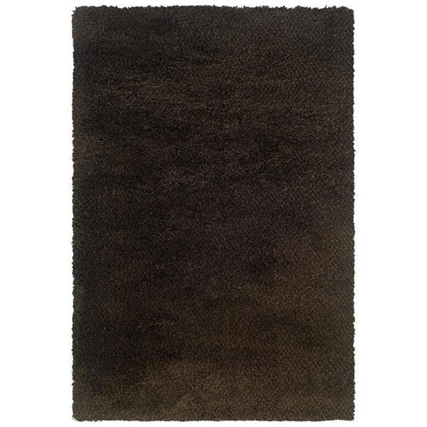 Manhattan Tweed Brown/ Black Shag Rug (7'10 x 11'2)