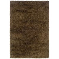 Manhattan Tweed Brown/ Gold Shag Rug - 7'10 x 11'2