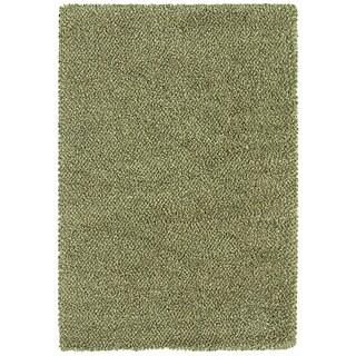 Manhattan Tweed Green/ Ivory Shag Rug (7'10 x 11'2)