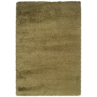 Manhattan Tweed Green/ Gold Shag Rug - 7'10 x 11'2