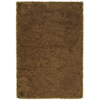 "Manhattan Tweed Red/ Gold Shag Rug (7'10 x 11'2) - 7'10"" x 11'2"""