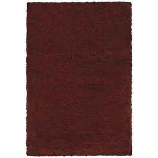 Manhattan Tweed Red/ Brown Shag Rug (7'10 x 11'2)