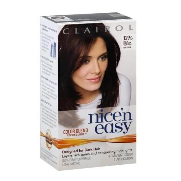 clairol nice n easy 129g rich medium golden brown hair color pack of - Clairol Nice And Easy Colors