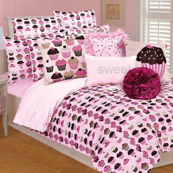 Microplush Cupcakes 3-piece Comforter Set