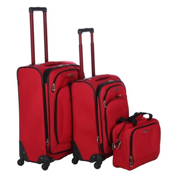 red samsonite spinner luggage