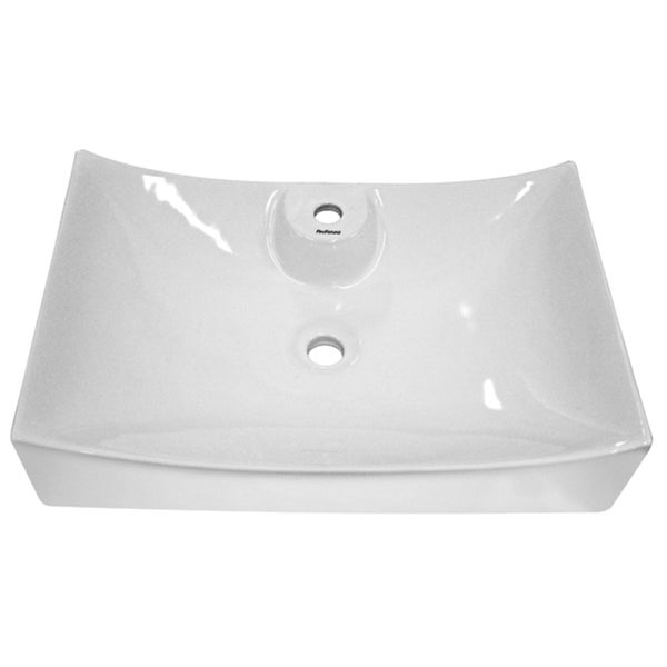 Fine Fixtures Ceramic White Bathroom Vessel Sink