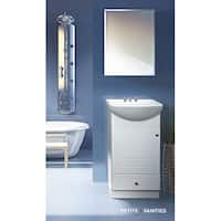 Fine Fixtures Petite 18-inch Wood White Bathroom Vanity