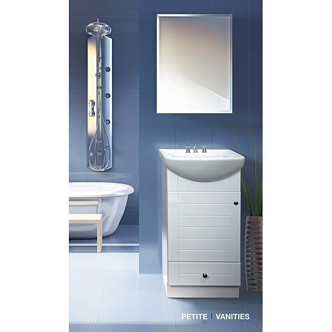 Fine Fixtures Petite 18 Inch Wood White Bathroom Vanity