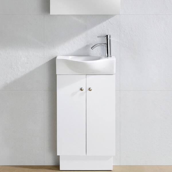 Somette Glenwood White Wood 17 Inch Single Bathroom