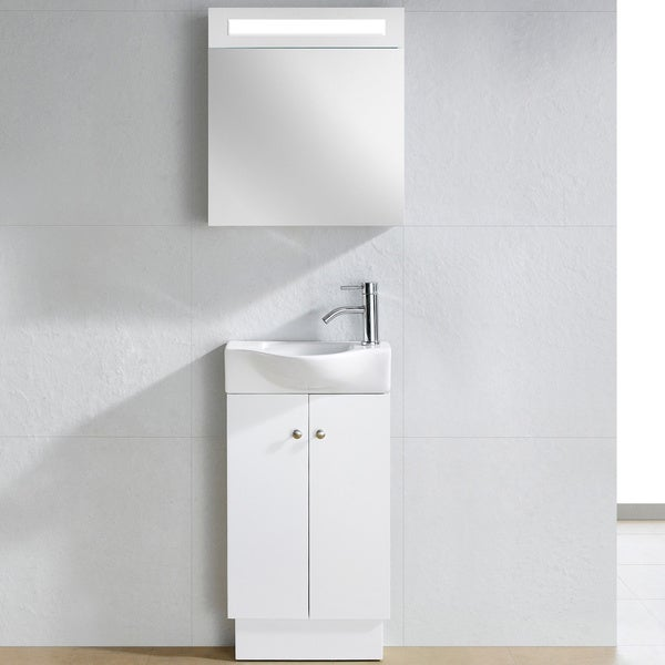 white wooden bathroom furniture. fine fixtures glenwood white wood 17inch single bathroom vanity free shipping today overstockcom 13679355 wooden furniture o