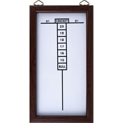 Dry Erase White-and-brown Wall-mounted Cricket Dart Game Scoreboard