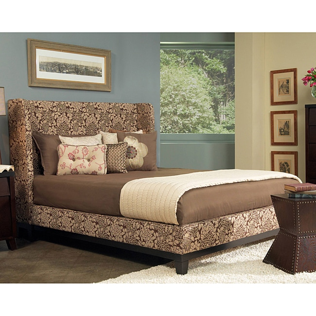 angelo:HOME Marlowe Full-size Coffee and Cream Floral Fabric Shelter Bed
