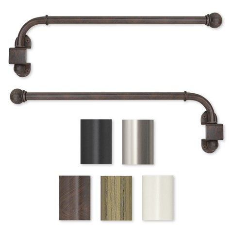 Swing Arm 24 to 38-inch Adjustable Curtain Rod - 38