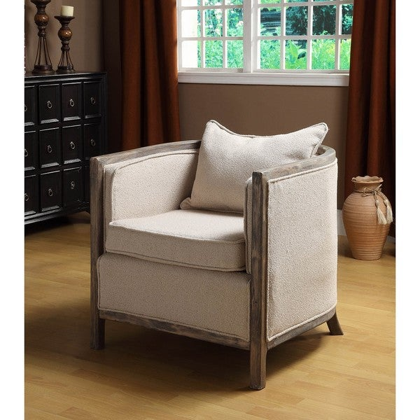 Shop Channing Bleached Gray Club Chair Free Shipping