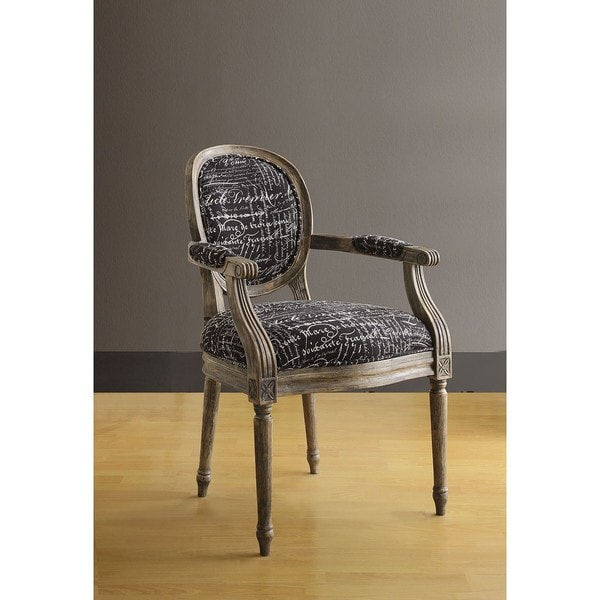 Oxford Font Noir Arm Chair
