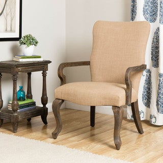 Gooseneck Beige Linen Chair