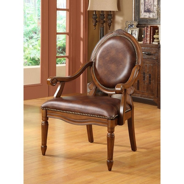 Brentwood bonded leather chair free shipping today for Bellagio button tufted leather brown chaise