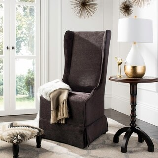 Safavieh En Vogue Dining Deco Bacall Dark Grey Slip Cover Dining Chair