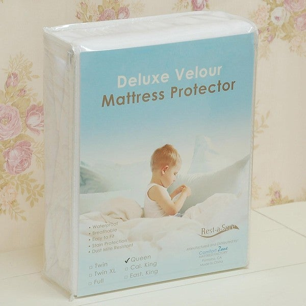 Rest-A-Sure Deluxe Deep-pocket Terrycloth Mattress Protector