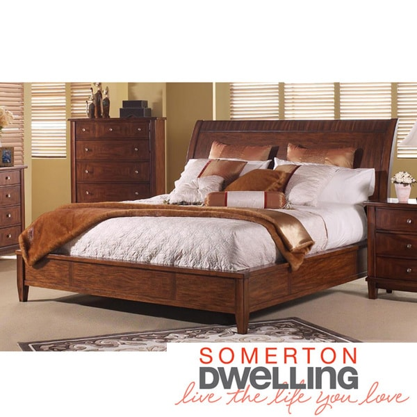 Somerton Dwelling Runway King Sleigh Bed