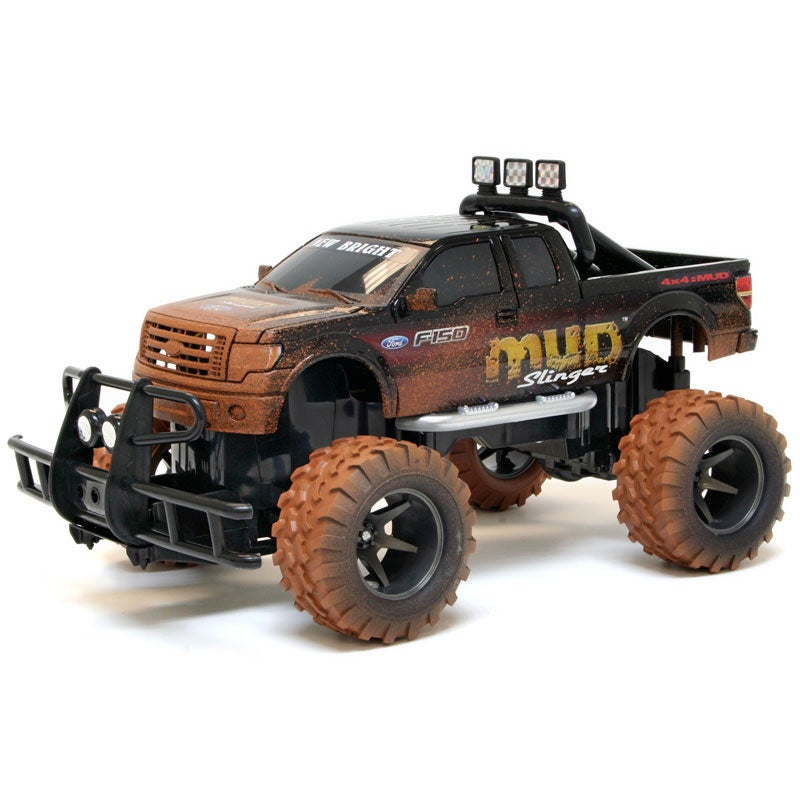 New Bright Black 1:15 Scale Electric Mud Slinger Ford F-150 RC Truck
