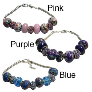 Magnetic Bead Bracelet (Option: Magnetic Charm Bracelet with 10 beads (purple)