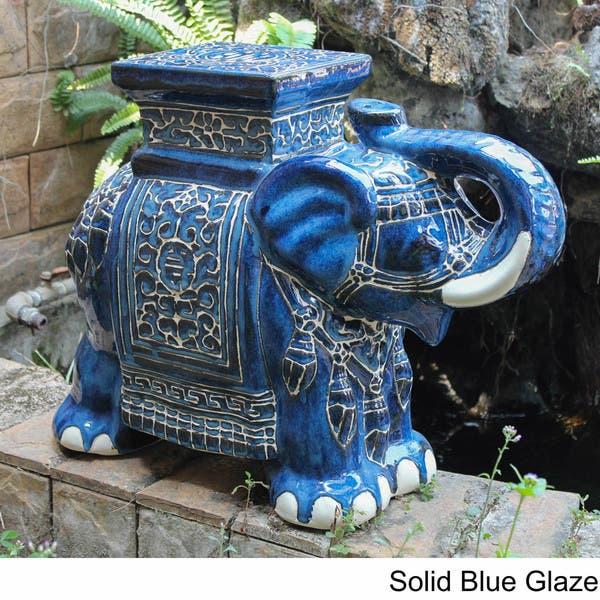 Peachy Shop International Caravan Large Porcelain Elephant Stool Unemploymentrelief Wooden Chair Designs For Living Room Unemploymentrelieforg