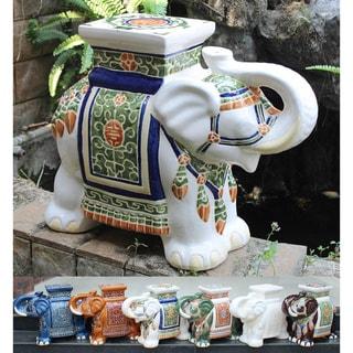 Link to International Caravan Large Porcelain Elephant Stool Similar Items in Living Room Furniture