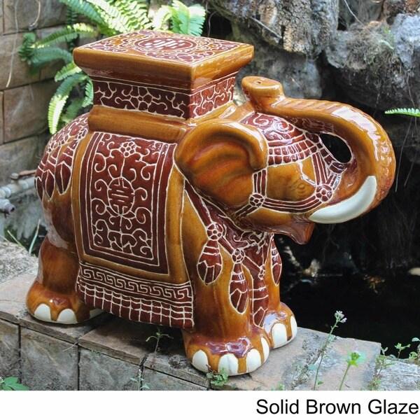 International caravan large porcelain elephant stool free international caravan large porcelain elephant stool free shipping today overstock 13680842 sciox Images