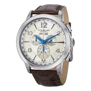 Stuhrling Original Men's Navigator de LeonSwiss Stainless-Steel Quartz Chronograph Watch