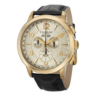 Stuhrling Original Men's Navigator de Leon Swiss Quartz Chronograph Watch
