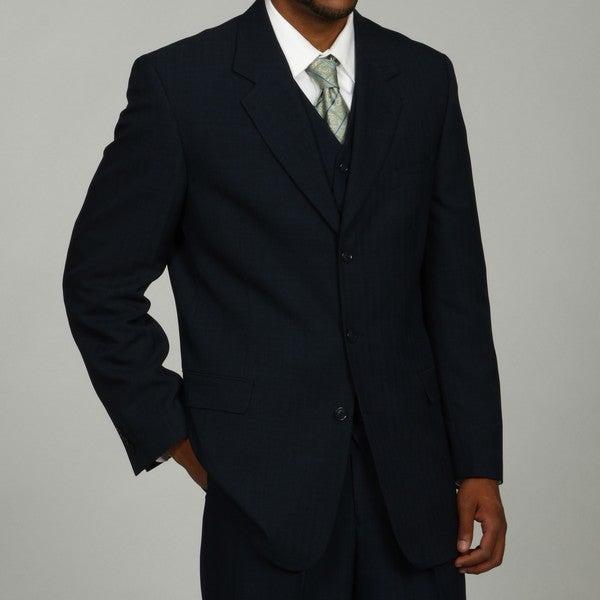 Phat Farm Men's Navy 3-button Vested Suit