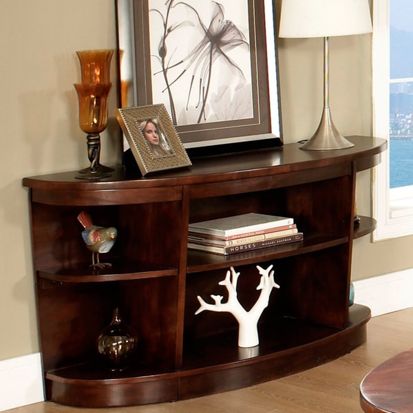Warm Brown Sofa Table Free Shipping Today Overstockcom 13680973