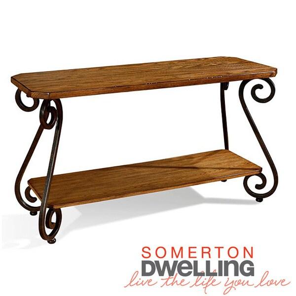 Covington Warm Brown Oak Sofa Table