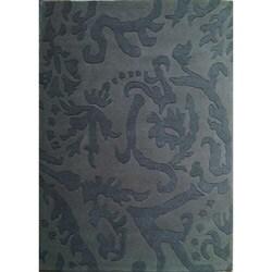 Hand-tufted Disco Grey Wool Rug (5' x 8') - Thumbnail 0