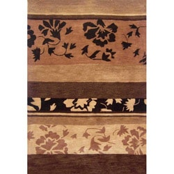 Hand-tufted Floral Wool Rug (5' x 8') - Thumbnail 0