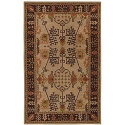 Hand-tufted Antique Beige Wool Rug (5' x 8')