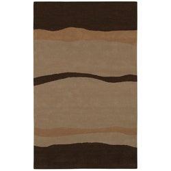 Hand-tufted Desert Wool Rug - 5' x 8' - Thumbnail 0
